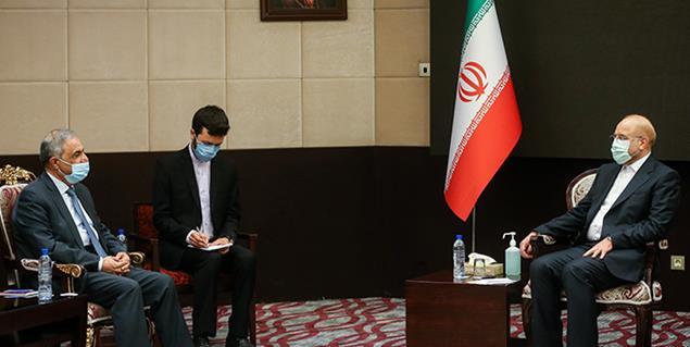 دیدار نماینده و رئیس کمیته فلسطین مجلس لبنان با دکتر محمد باقر قالیباف
